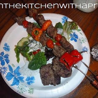 Grilled Şiş Kebap,  Köfte and Salad