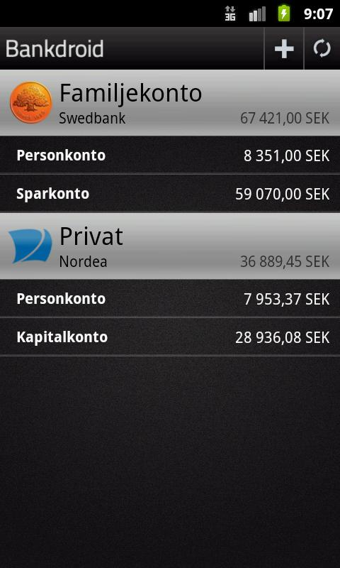 Bankdroid - screenshot