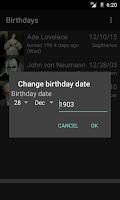 Screenshot of TKBirthdayReminder