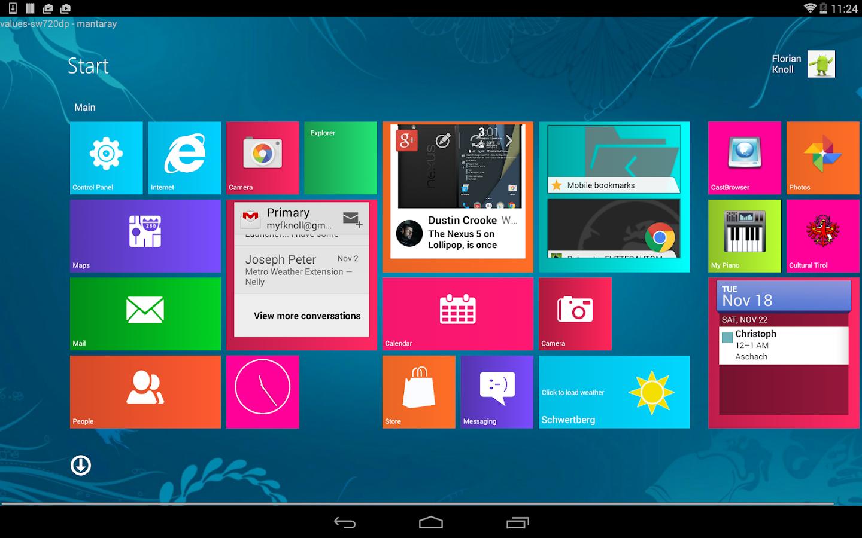 Metro UI Launcher 8.1 - screenshot