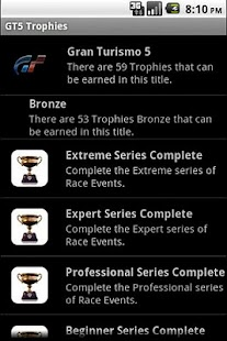 GT5 Trophies - screenshot thumbnail