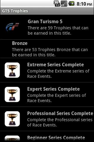 GT5 Trophies - screenshot