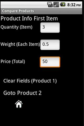 Products Compare- screenshot