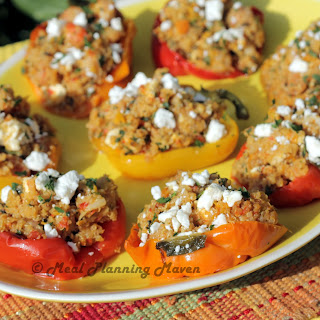 Mediterranean Roasted Shrimp Stuffed Peppers