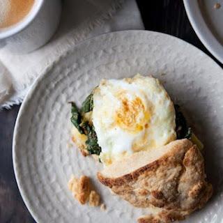 Sharp Cheddar and Mustardy Greens Breakfast Sandwich Recipe