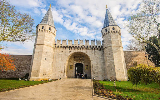 The Gate of Salutation that leads to the Topaki Palace in Istanbul.