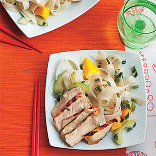 Grilled Teriyaki Pork with Mango-Noodle Salad