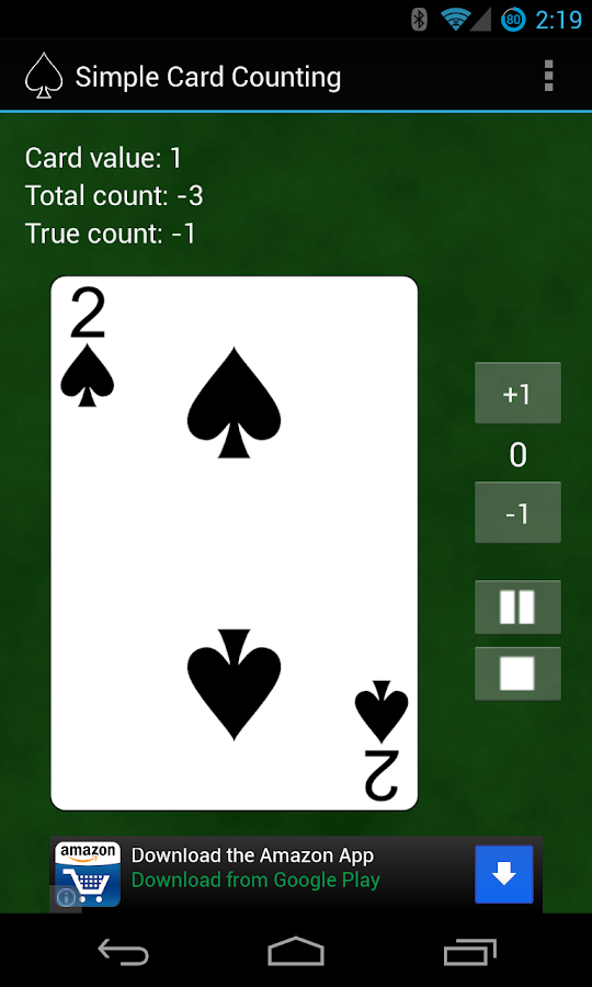 Simple Card Counting - screenshot