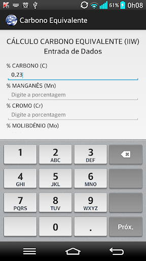 【免費生產應用App】Carbono Equivalente-APP點子