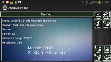 Screenshot of AndroView Free + LabView VI