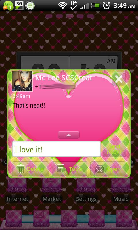 GO SMS THEME|PrettyPattern- screenshot