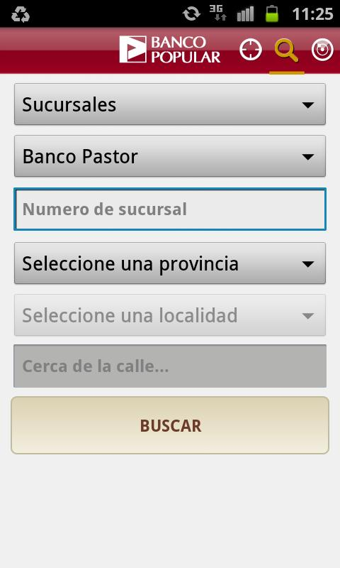 Banco Popular buscador cajeros - screenshot