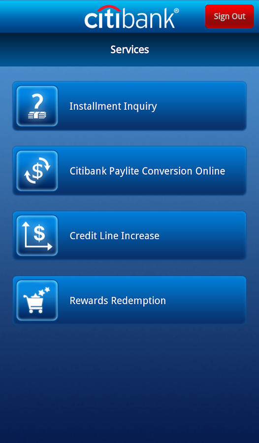 Citibank TH - screenshot
