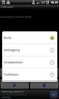 Screenshot of Police scanner - Sweden