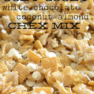 Ooey Gooey White Chocolate Coconut Almond Chex Mix