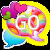GO SMS - Hearts N Rainbows