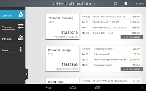 NIHFCU Mobile Banking - screenshot thumbnail