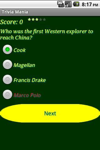 Trivia Mania screenshot #4