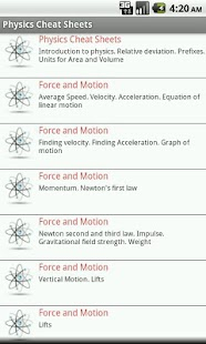 Physics Cheat Sheets FREE - screenshot thumbnail