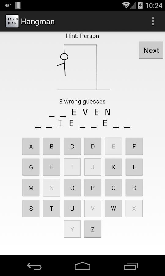Hangman- screenshot