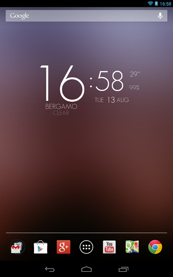 UCCW Theme Elegant HD Clock - screenshot