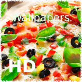 Pizza and sandwich wallpaper