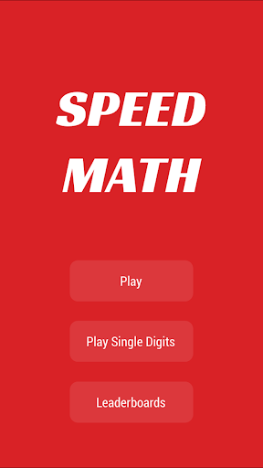 Speed Math - Time challenge