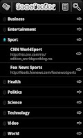 Screenshot of NewsFinder