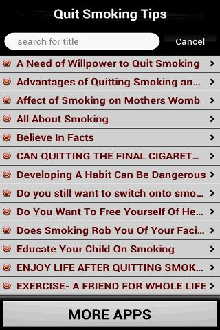 Quit Smoking Tips- screenshot