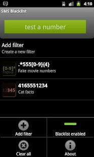 SMS Blacklist - screenshot thumbnail