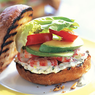 Shrimp Sandwiches with Tarragon-Caper Mayonnaise.
