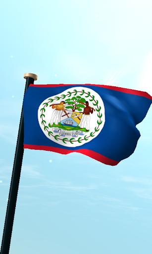 Belize Flag 3D Free Wallpaper