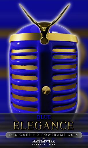 エレガンス poweramp 皮膚ブルー