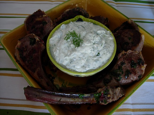 Feta and Herb Dipping Sauce Recipe