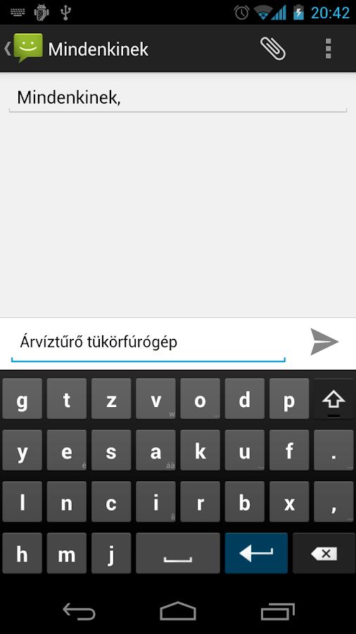 Magyar AnySoftKeyboard- screenshot
