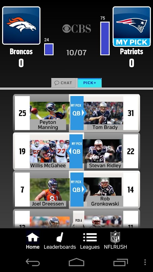 NFLRUSH Pick Em - screenshot