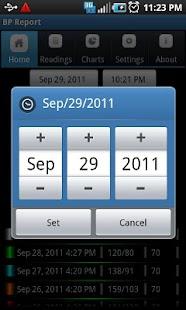 Blood Pressure(BP) Report Lite- screenshot thumbnail