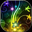 Neon flowers logo
