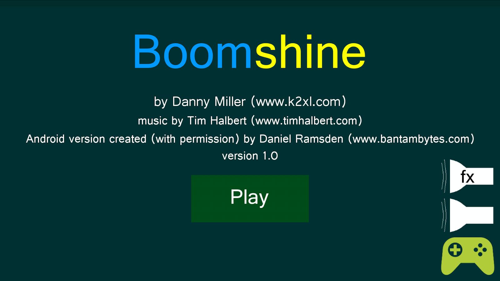 Boomshine - screenshot