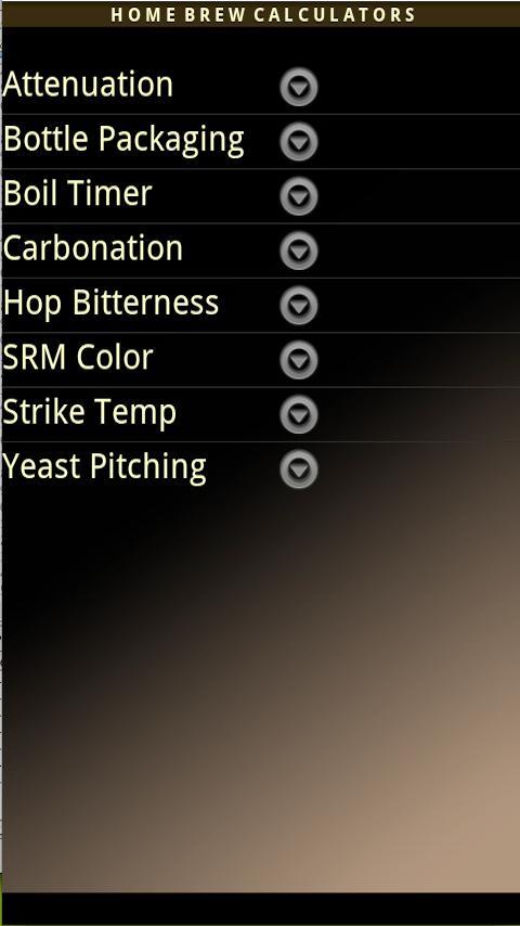 Home Brew Calculators- screenshot