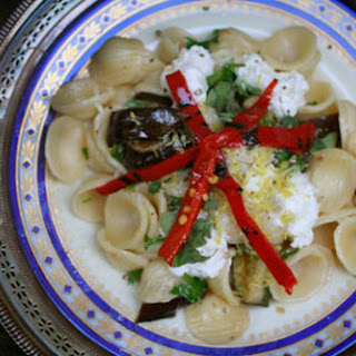 Orecchiette with Marinated Eggplant, Burrata and Chilies Recipe