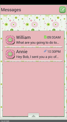 DaintyFlowers GO SMS THEME