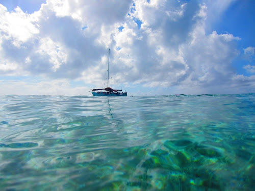 pefect day by Jay Anderson - Transportation Boats ( water, morring star, cruse, sea, boat, nassau, sail boat, vacation, sky, swim, cloud, sail, trip, bahamas, , relax, tranquil, relaxing, tranquility )