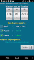 Screenshot of Blood Donation Reminder