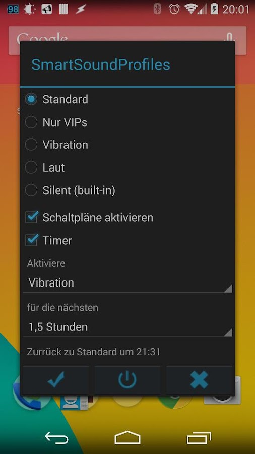 Smart Sound-Profile Trial – Screenshot