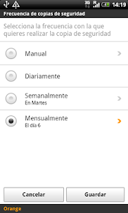Copia de Seguridad: miniatura de captura de pantalla