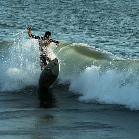 by Bob  Matkodak - Sports & Fitness Surfing ( Free, Freedom, Inspire, Inspiring, Inspirational, Emotion,  )