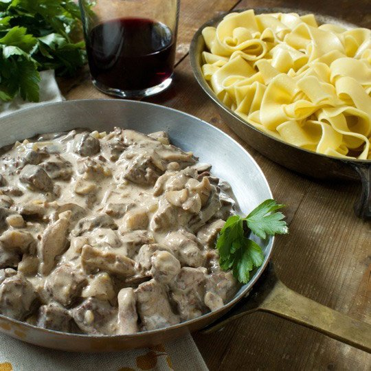Braised Beef Stroganoff Recipe