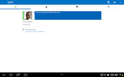 Skype for Business for Android Screenshot 14