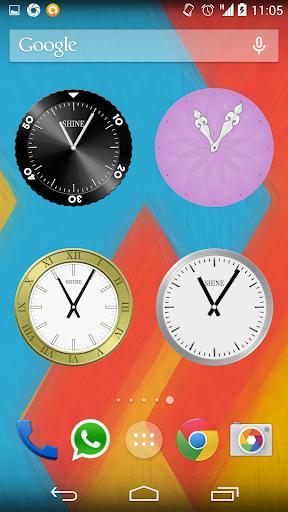 Shine Analog Clock Widget